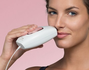 The Philips Lumea Comfort is super quick and easy to use on unsightly facial hair