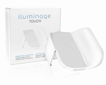 White plastic precision attachment and its Iluminage touch branded box
