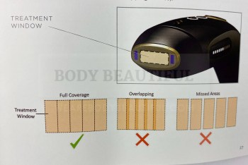 Flash coverage pattern for the Smoothskin Gold requires concentration and precision.