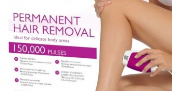 """Close up of the Silk'n Glide Compact box showing the prominent wording """"Permanent hair removal"""""""