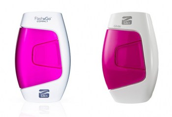 Silk'n Glide 150,000 and the Silk'n Flash&Go Compact side by side showing the different logos