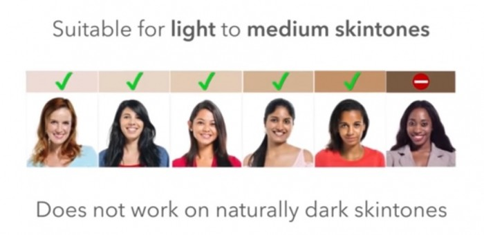 Still from a video on Silkn.com showing the Compact is suitable for light to medium skin tones.