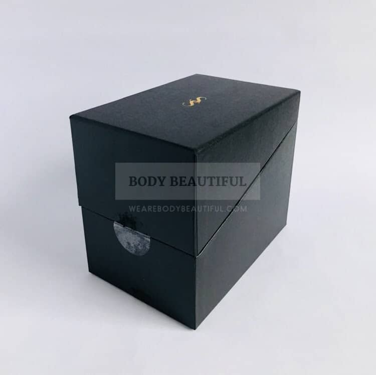The small sturdy box without the info sleeve.