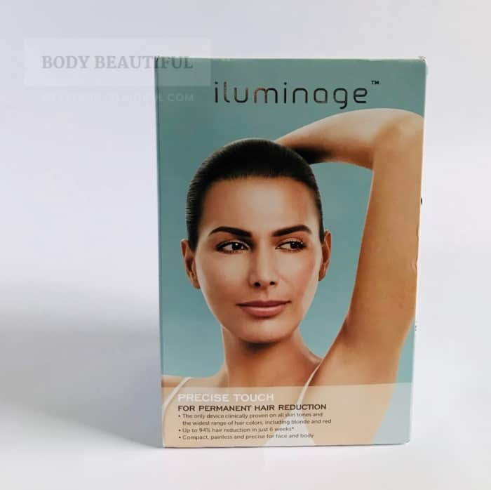 Photo of the front view of the Iluminage Precise Touch box.