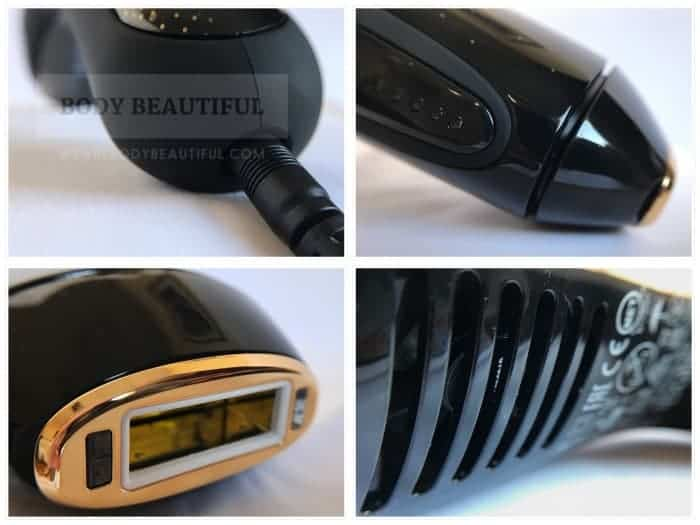 4 photos of the Muse device in close-up