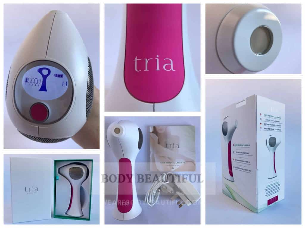 A selection of photos from this real-life tested Tria 4X laser hair removal review.