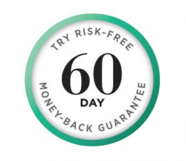 60 day money back guarantee graphic from Triabeauty.co.uk