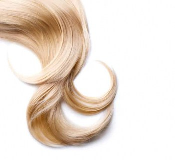 A lock of light blonde hair