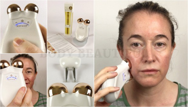 Tried & tested user trial of the Nuface Trinity microcurrent device with before & after photos by WeAreBodyBeautiful.com