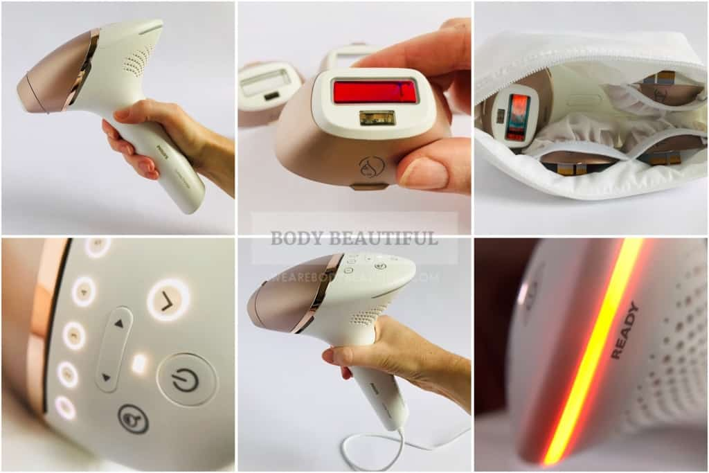 Selection of images of the Lumea Prestige that are described in detail in the full review at wearebodybeautiful.com