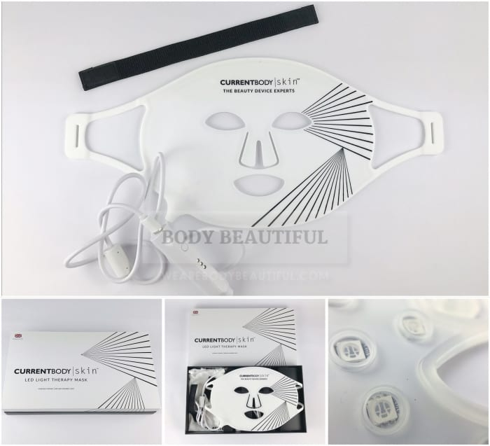 Professional quality, attractive kit with the CurrentBody Skin LED light therapy mask. Easy peasy.