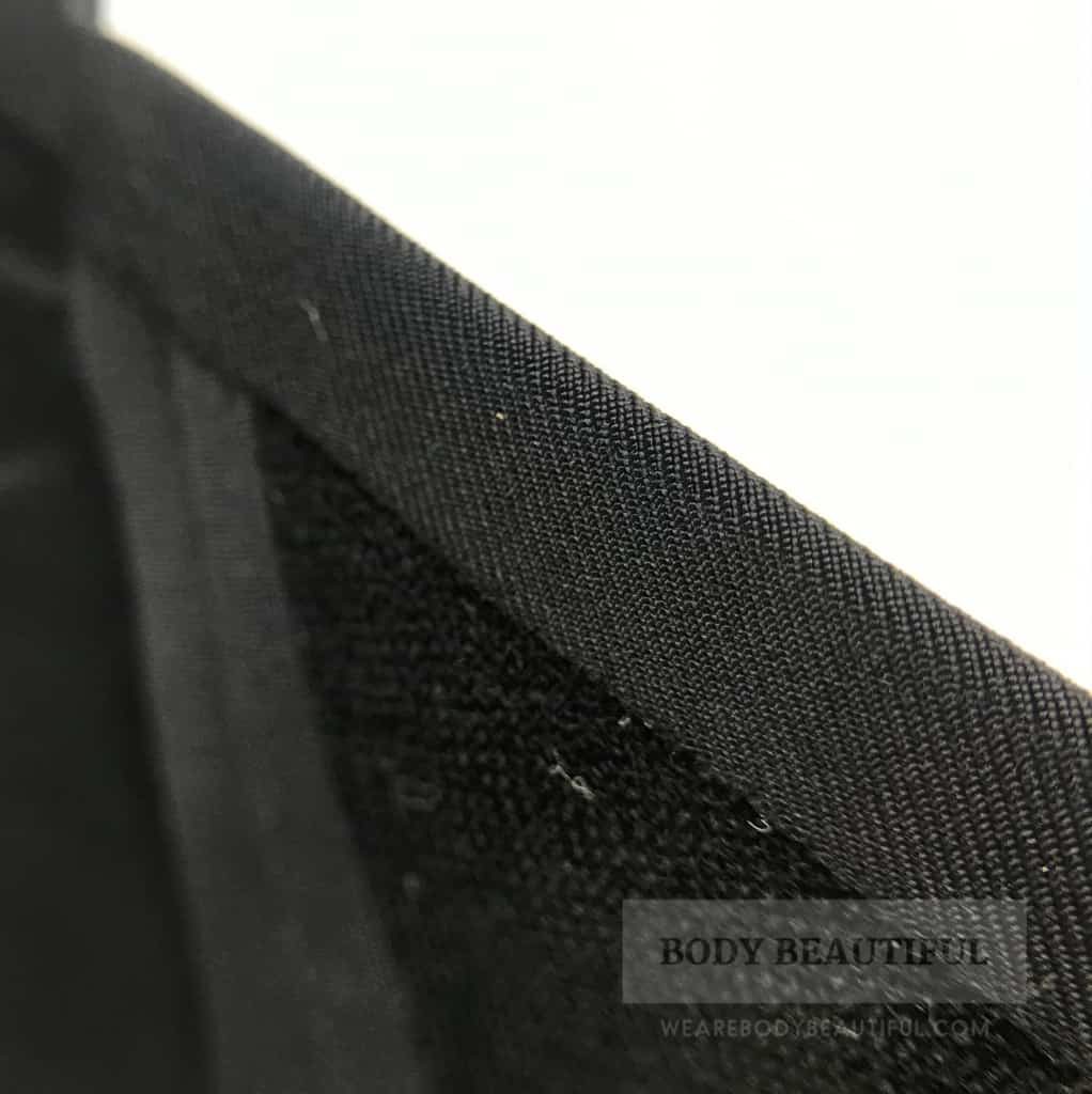 Close-up of the inside leg seam of the seam free full brief