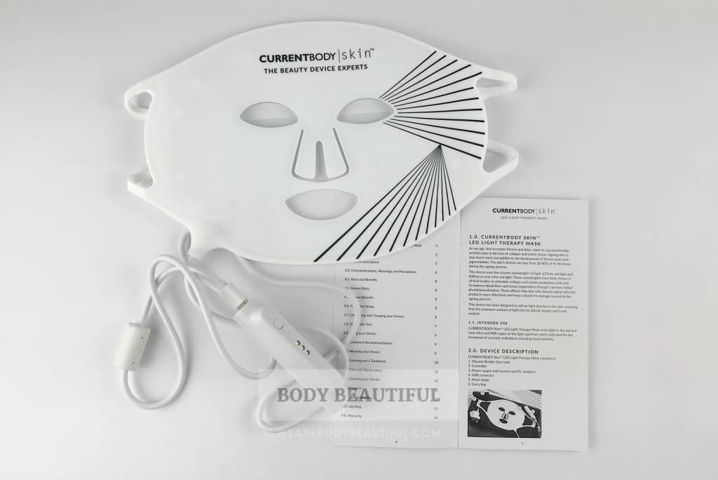 CurrentBody.com Skin LED light therapy mask and user manual
