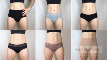 Photos and tried & tested feedback on thinx, Modibodi and Tulip pants over several periods.