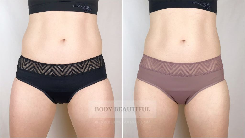 Thinx excellent quality Hiphuggers in black and dusk
