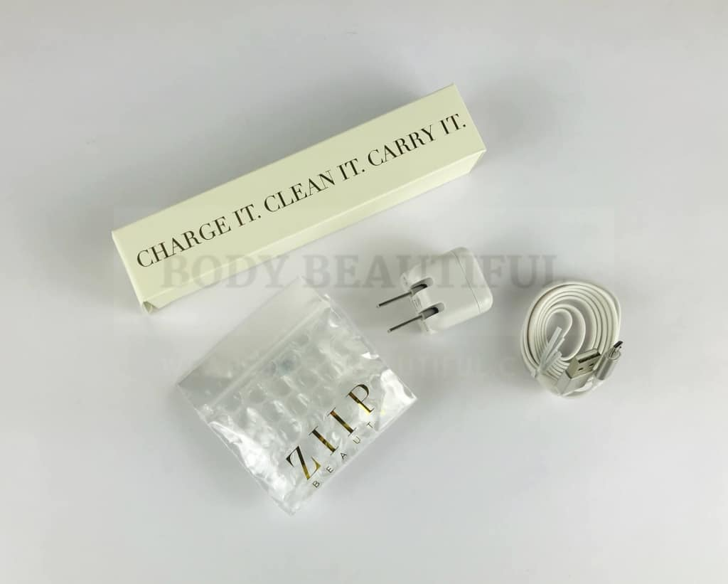 Contents inside the smaller cream box inside the ZIIP Nano kit