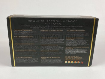 Concise multi-language information on the back of the Smoothskin Pure info sleeveinformation