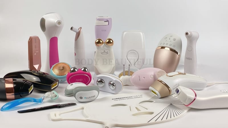 Lots of home beauty tech products reviewed by WeAreBodyBeautiful.com
