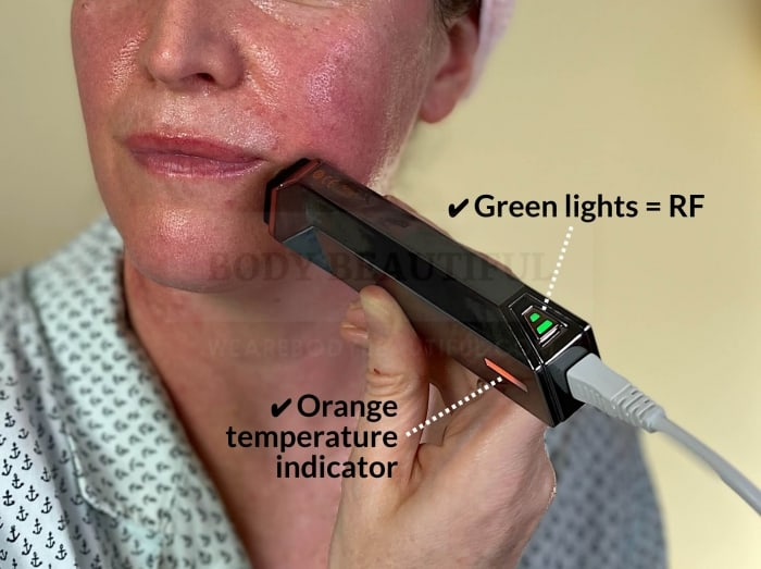 If you see the green RF and orange temperate light your doing really well!