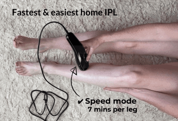 Zapping one full leg with the Pure in speed mode takes just 7 mins!