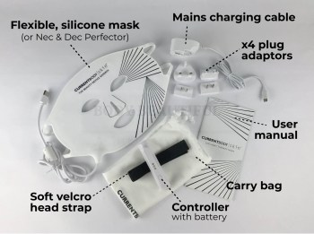 The CurrentBody skin LED light therpay mask kit labelled