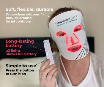 The CurrentBody skin masks are ✔ Soft, flexible, durable, ✔ Simple to use, ✔ Long-lasting battery
