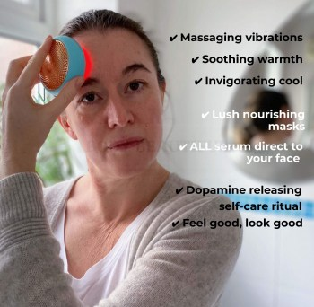 What I like about the UFO 2: ✔ Massaging vibrations ✔ Soothing warmth ✔ Invigorating cool ✔ Lush nourishing masks ✔ ALL serumdirect to your face ✔ Dopamine releasing self-care ritual ✔ Feel good, look good