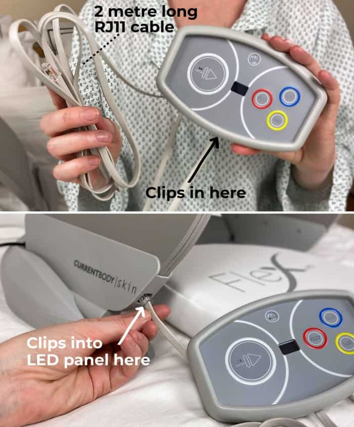 There's plenty of cable length to attach the controller to the Flex ME LED panel