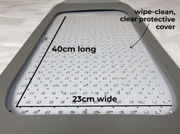 Closer shot of the Flex MD LED array embedded into the flexible body-safe triple layer foam panel